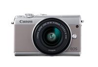 Canon EOS M100, Digitalkamera, 3 Zoll LCD, 24.2 MP, 6000 x 4000 Pixel, SD-SDHC-SDXC, Grau