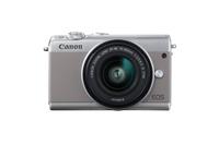 Canon EOS M100, Digitalkamera, 3 Zoll LCD, 24.2 MP, 6000 x 40006 Pixel, SD-SDHC-SDXC, Grau