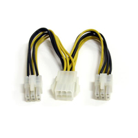 6IN PCIE POWER SPLITTER CABLE StarTech.com 15cm 6pin PCI Express Splitter Kabel - PCIe Adapterkabel NMS