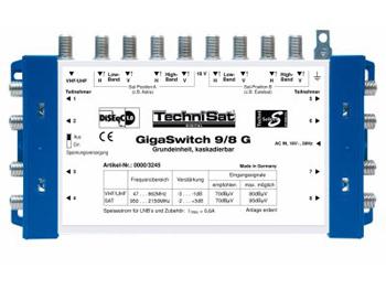 Technisat GigaSwitch 17/8G, 4 Sat-Positionen, 1 Terrestrischer Eingang