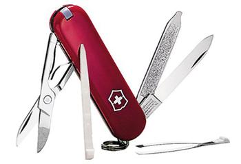Victorinox Taschenmesser Classic, rot, Der Klassiker mit 7 Funktionen