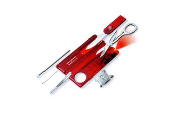 Victorinox Taschenmesser SwissCard, rot, der Flache mit 13 Funktionen