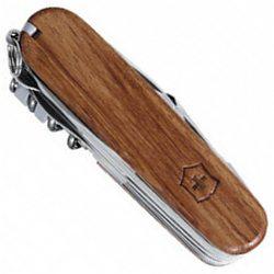 Victorinox Taschenmesser SwissChamp mit Hartholz-Schalen, mit eingebranntem Logo