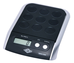 WEDO Optimo Digitalwaage bis 5000g, 1 g Teilung, inkl. Batterien, LCD-Anzeige